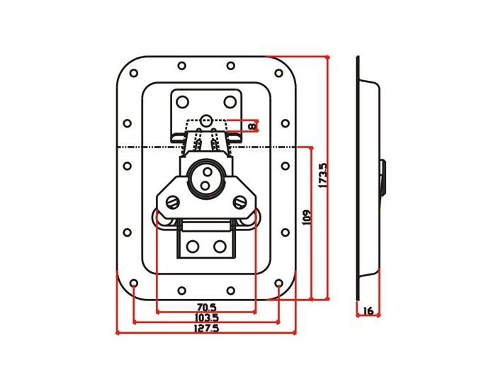 工具箱锁J001F+J420F