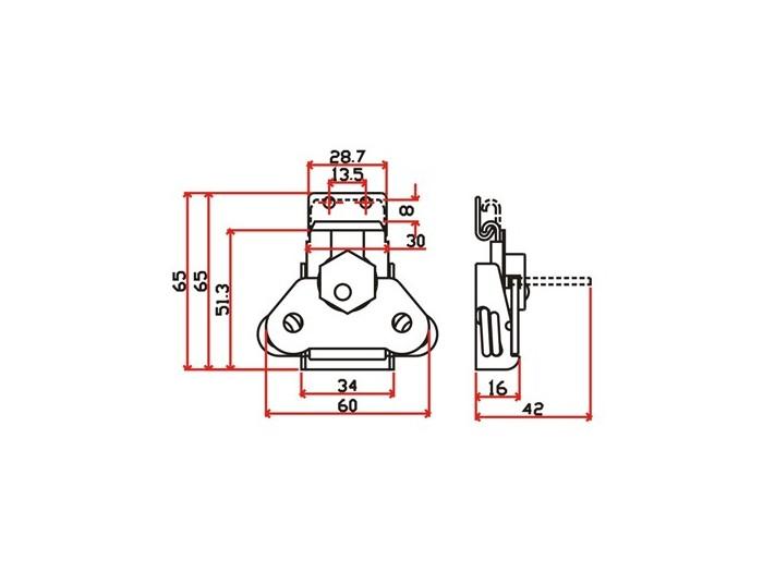 工具箱锁J901F