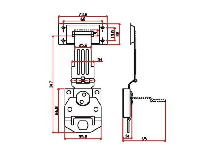 工具箱锁J701F
