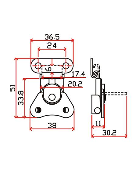 工具箱锁J101-2
