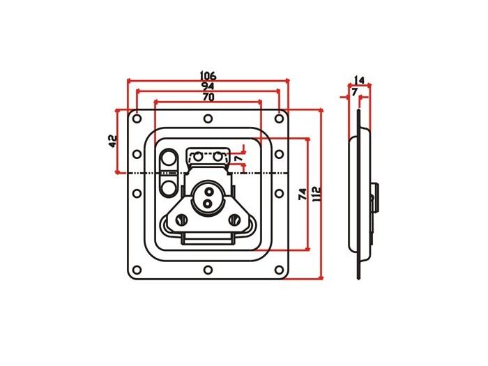 工具箱锁J014F+J320F