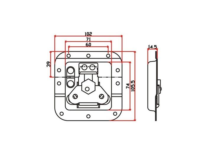 工具箱锁J013F+J320F