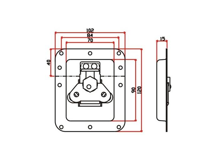 工具箱锁J011F+J901F