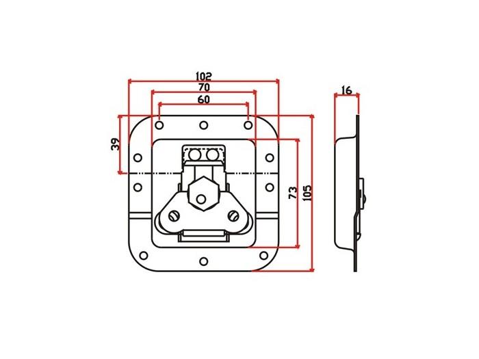 工具箱锁J010F+J901F