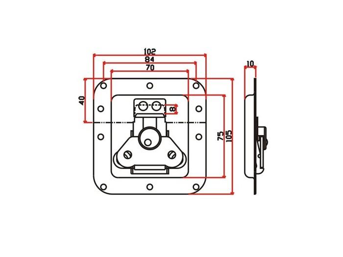 工具箱锁J009F+J620F