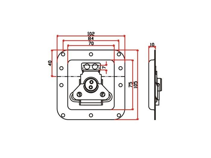 工具箱锁J009F+J320F