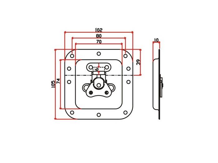 工具箱锁J008F+J105F