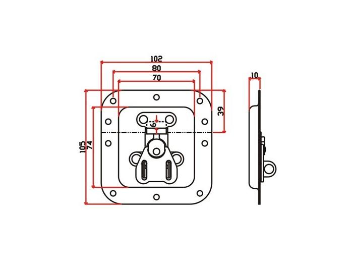 工具箱锁J008F+J106F