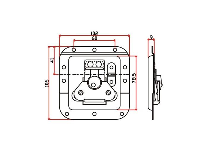 工具箱锁J007F+J601F