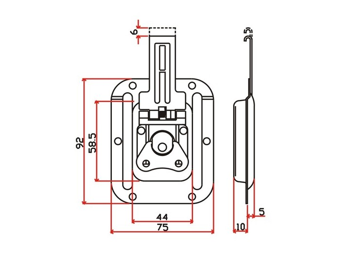工具箱锁J012F+J107F