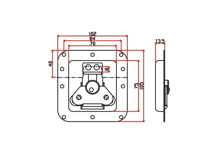 工具箱锁J004F+J620F