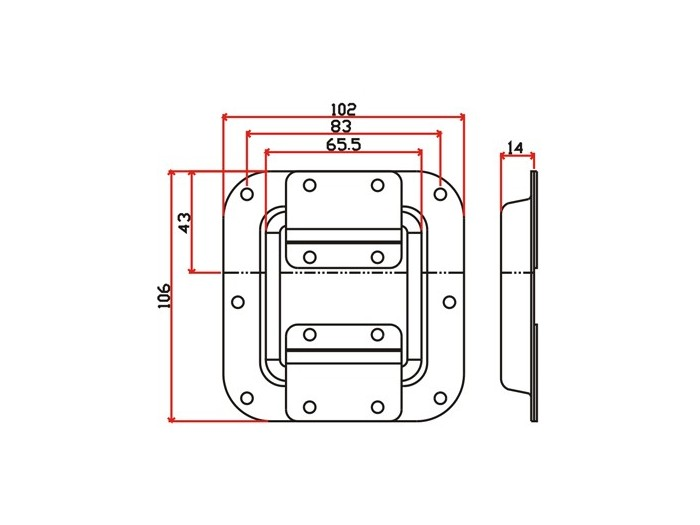 工具箱锁J019F