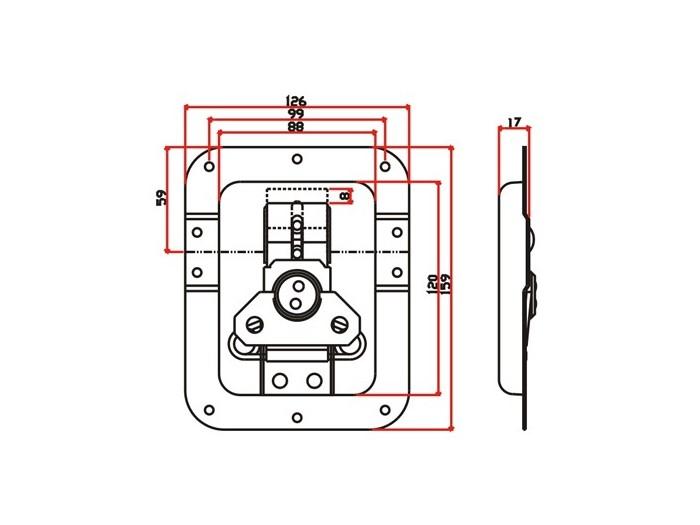 工具箱锁J018F+J421F