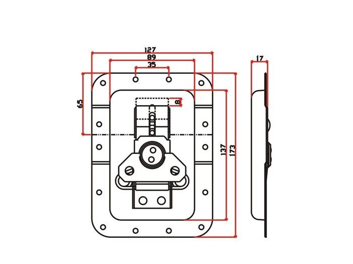 工具箱锁J017F+J421F