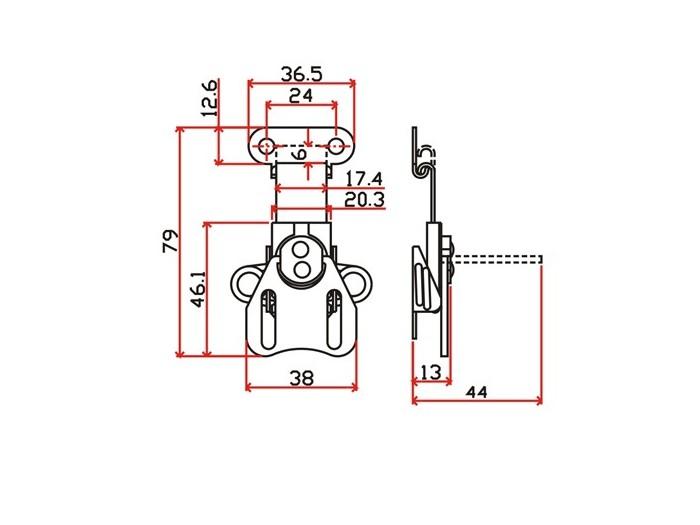 工具箱锁J501F