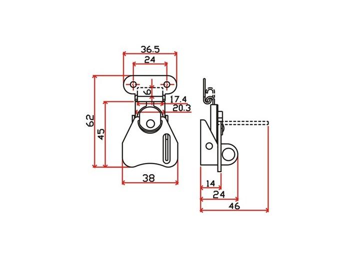工具箱锁J108F