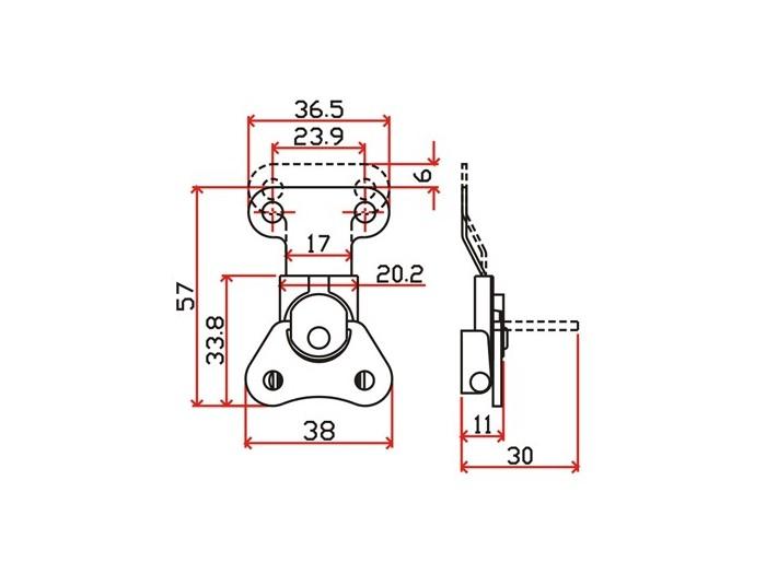 工具箱锁J110F