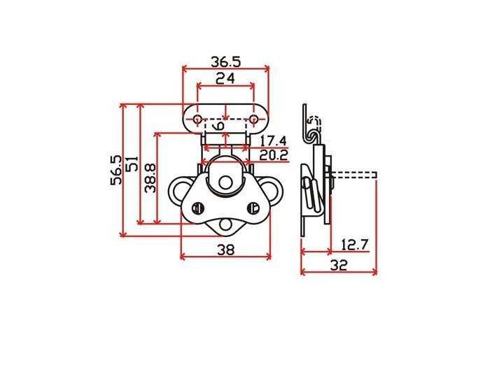 工具箱锁J103F