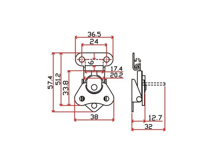 工具箱锁J102F